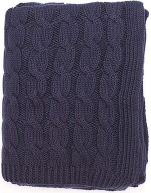 Seafarer's Cable Knit Cotton Throws - Nautical Luxuries