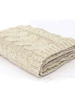 Fisherman's Sweater Chunky Cable Knit Throw