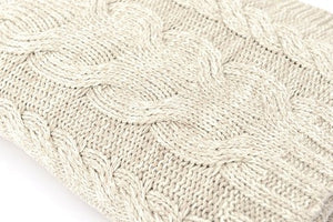 Fisherman's Sweater Chunky Cable Knit Throw - Nautical Luxuries