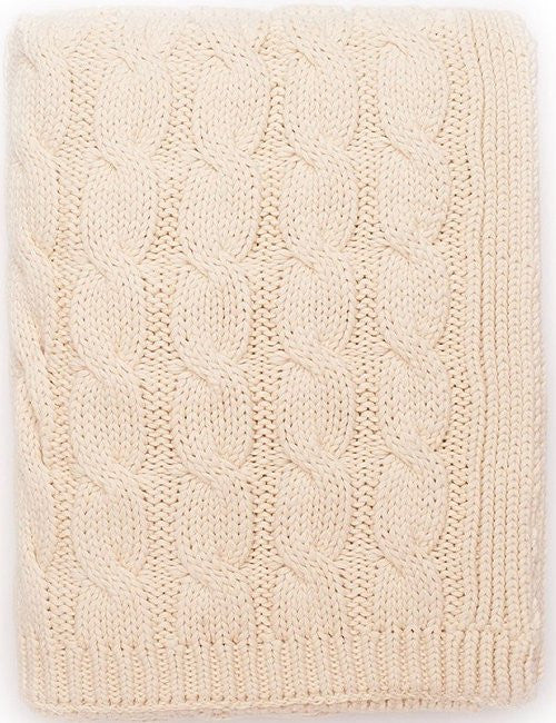 Seafarer's Cable Knit Cotton Throws