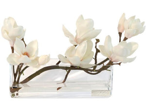 Magnolia Blossoms Yacht Silks Arrangement - Nautical Luxuries