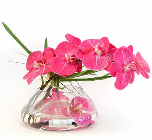 Fuchsia Orchids With Papyrus Yacht Silks Arrangement - Nautical Luxuries