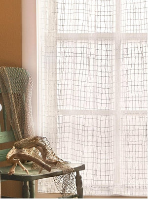 Sea Splash Netting Sheer Curtains - Nautical Luxuries