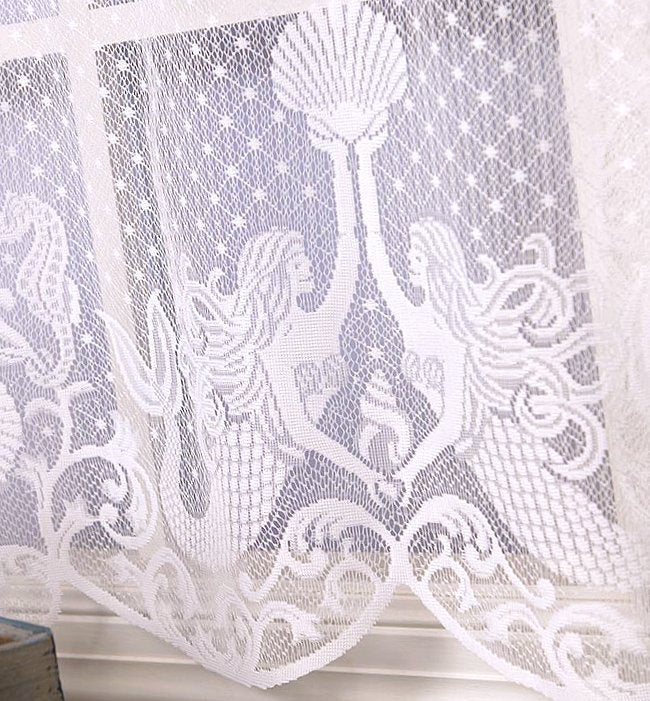 Mystic Mermaids Sheer Curtain Panels - Nautical Luxuries