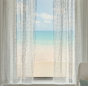 Sea Splash Starfish Sheer Curtains - Nautical Luxuries