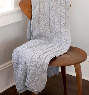Lobsterman's Sweater Eco-Conscious Knit Throw - Nautical Luxuries