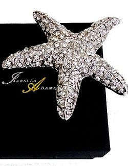 Swarovski Crystal Starfish Table Decor