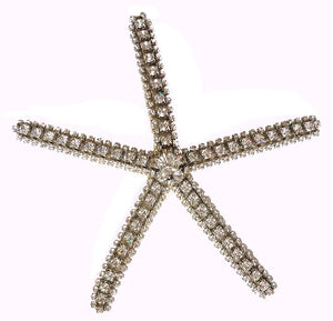 Swarovski Crystal Starfish Accents Set - Nautical Luxuries