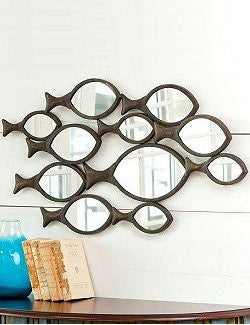 Schooling Fish Wall Mirror