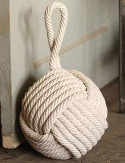 Large Cotton Sailor's Knot Doorstop