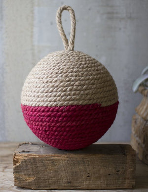 Jute Rope Fishing Float Sphere - Nautical Luxuries