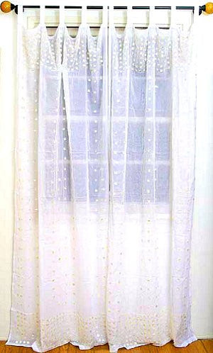Mother of Pearl Cotton Curtain Panel Sets - Nautical Luxuries