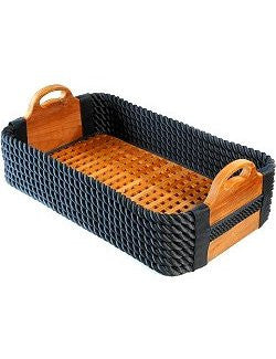 Italian Yachtsman's Cross-Hatch Shoe Basket
