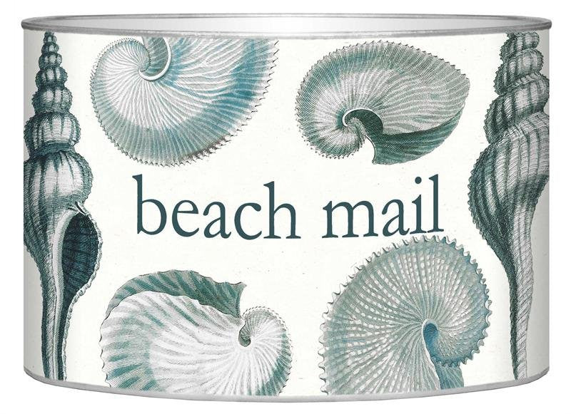 Exotic Shells Decoupage Beach Mail Organizer - Nautical Luxuries