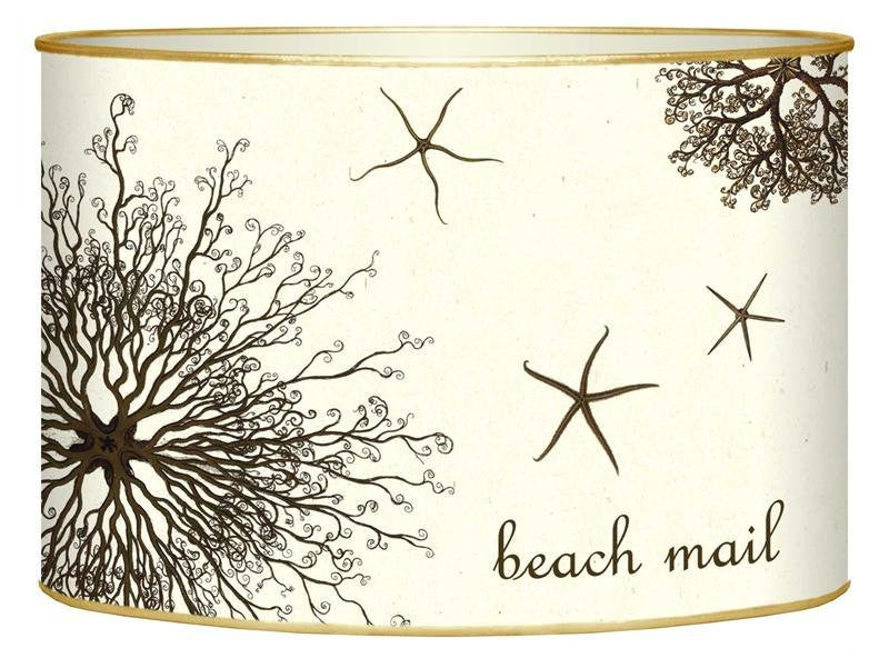 Brown Urchin & Starfish Beach Mail Organizer