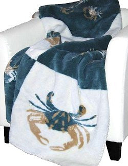 Luxury Double-Plush Coastal Crab Throw