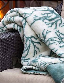 Luxury Double-Plush Coral Reef Coastal Throw