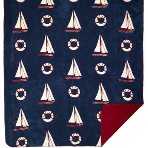 Luxury  Double-Plush Sail Away Nautical Throw - Nautical Luxuries