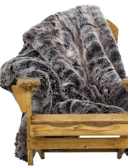 Yacht Furs Luxury Weatherproof Blanket/Silver Fox - Nautical Luxuries
