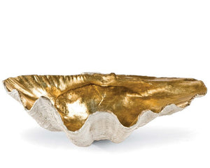 Golden Luxury Clamshell Display Bowl - Nautical Luxuries