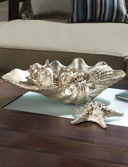 Antique Silver Finish Centerpiece - Nautical Luxuries
