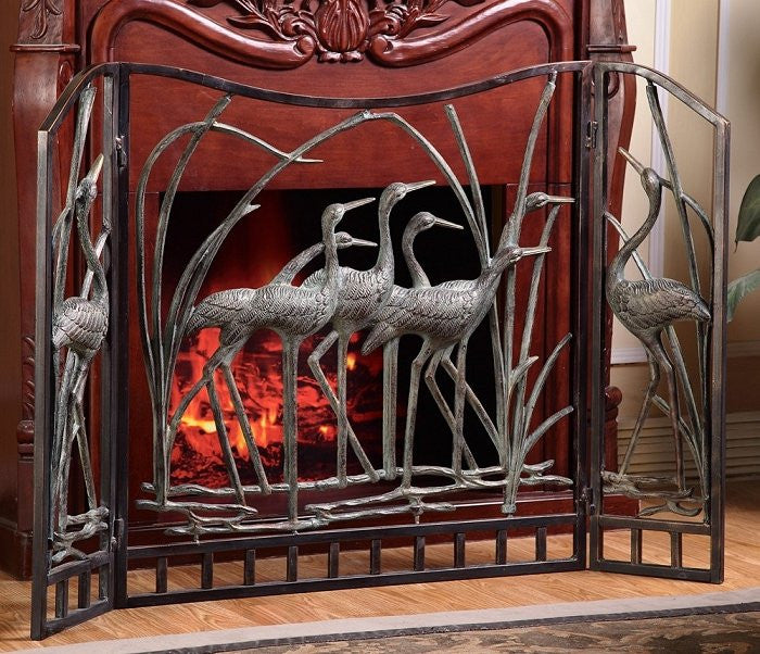 beach fireplace screen