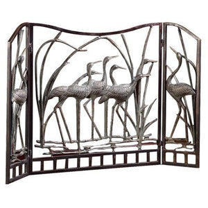 Marsh Waders Beach House Fireplace Screen - Nautical Luxuries