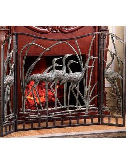 Marsh Waders Beach House Fireplace Screen