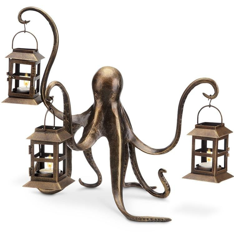 Denizen of the Deep Votive Lantern Centerpiece - Nautical Luxuries