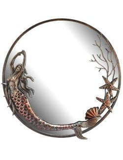 mermaid mirror round