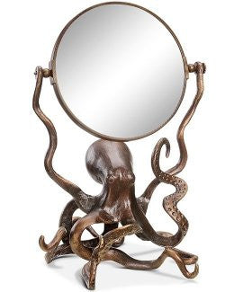 Denizen Of The Deep Vanity Mirror - Nautical Luxuries