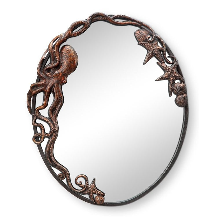 Denizen Of The Deep Coastal Wall Mirror/Oval