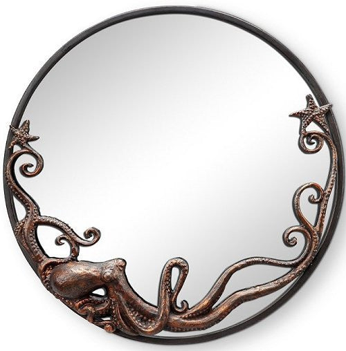 Coastal Wall Mirrors denizen of the deep coastal wall mirror/round - nautical luxuries