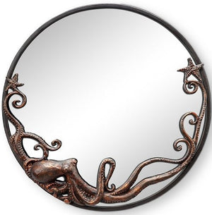 Denizen Of The Deep Coastal Wall Mirror/Round - Nautical Luxuries