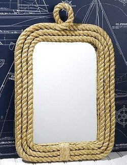 Seafarer's Rope Trim Wall Mirror