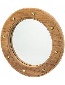 Yachting Teak Collection Porthole Accent Mirror