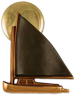 Beach Cottage Brass Sailboat Door Knocker - Nautical Luxuries