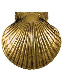 Beach Cottage Scallop Shell Door Knocker - Nautical Luxuries