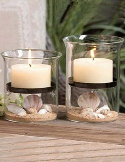 Sand & Sea 2-Pc. Coastal Candleholder Set - Nautical Luxuries