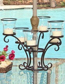 Umbrella Table Votive Candle Centerpiece