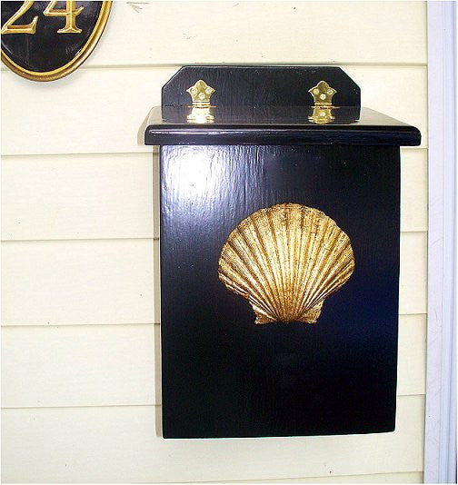 Wooden Beach Cottage Mailbox