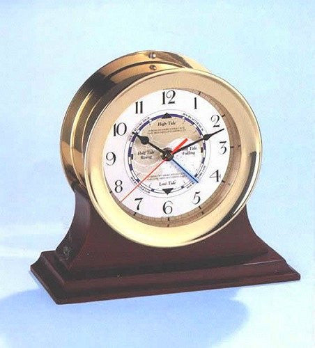 Desk Tide Clock with Mahogany Base