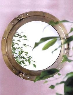 Main Saloon Bronze Porthole Mirrors - Nautical Luxuries