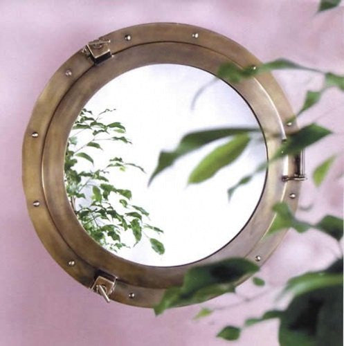 Main Saloon Bronze Porthole Mirrors