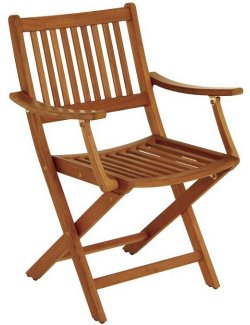 Yachting Teak Collection Folding Armchair - Nautical Luxuries