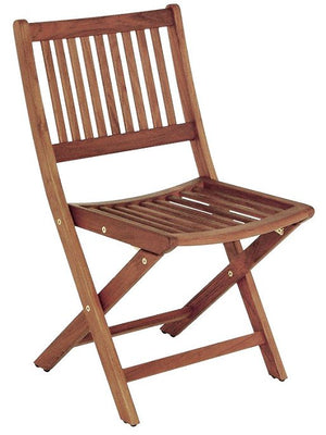 Yachting Teak Collection Armless Folding Chair - Nautical Luxuries