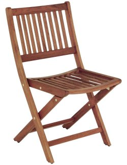 Yachting Teak Collection Armless Folding Chair