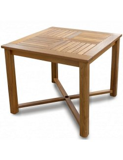 Yachting Teak Collection Square Dining Table