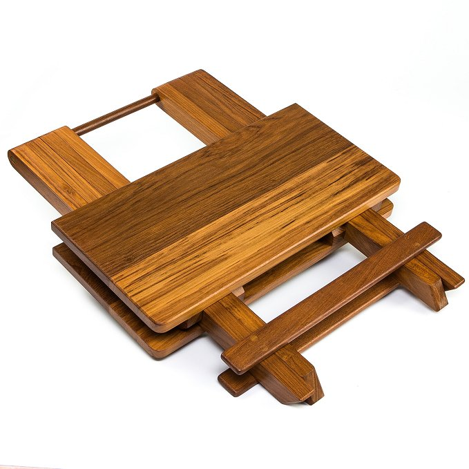 Yachting Teak Collection Small Folding Table - Nautical Luxuries