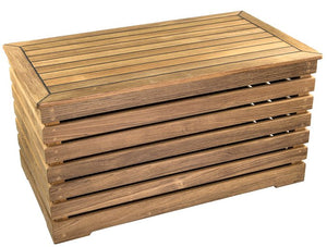 Yachting Teak Collection Decking Style Storage Box - Nautical Luxuries